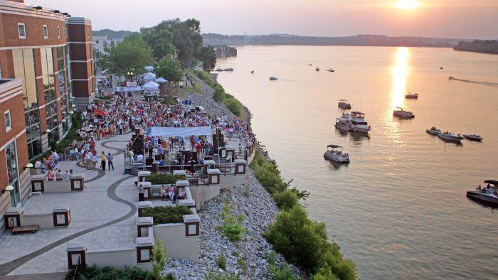 Owensboro Riverfront, event on Riverpark Patio